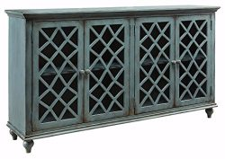 Ashley Furniture Signature Design – Mirimyn 4-Door Accent Cabinet – Antique Teal Fin ...