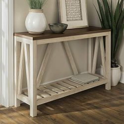 WE Furniture AZF52AFTWWO Rustic Entry Table White Oak