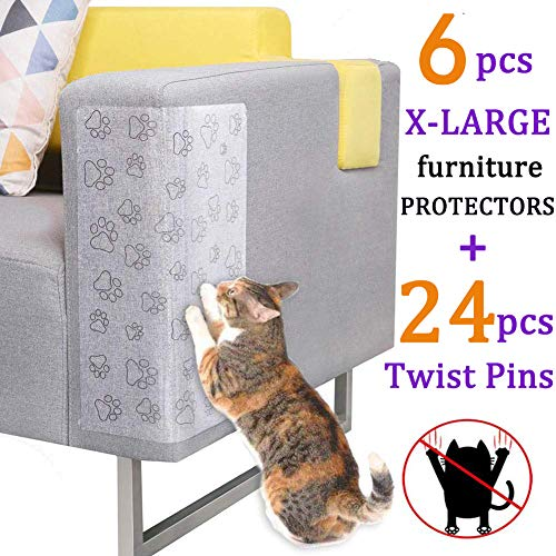 Pro Goleem 6 PCS Cat Scratching Guard Self-Adhesive Couch Guard for Cat Furniture Protector/Cat  ...