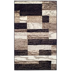 Superior Modern Rockwood Collection Area Rug, Modern Area Rug, 8 mm Pile, Geometric Design with  ...
