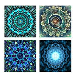 4 Pack 5D DIY Flower Painting Diamond Painting Set Decorating Cabinet Table Stickers Paintings P ...