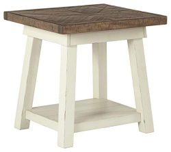 Ashley Furniture Signature Design – Stowbranner Casual Rectangular End Table – Two-t ...