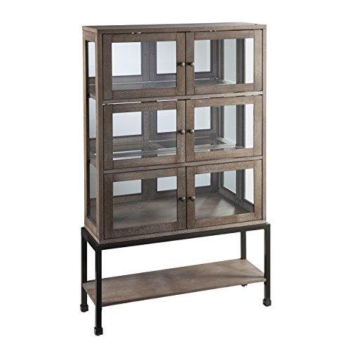 Belstrom Storage Cabinet – 3 Double Door Cabinets – Burnt Oak Wood Finish