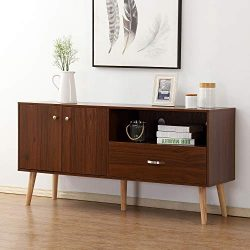 soges Premuim TV Stand/Buffet Table/Console Table Entertainment Center Media Storage Wood Consol ...