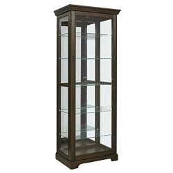 Pulaski  Locking Sliding Door Curio Display Cabinet, 29.25″ L x 19.5″ W x 80.0″ ...