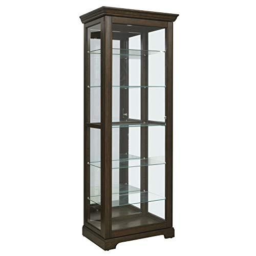 Pulaski  Locking Sliding Door Curio Display Cabinet, 29.25″ L x 19.5″ W x 80.0&#8243 ...