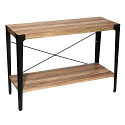 IRONCK Industrial Console Table for Entryway, Sofa Table, Entryway Table with Storage, Sofa Tabl ...