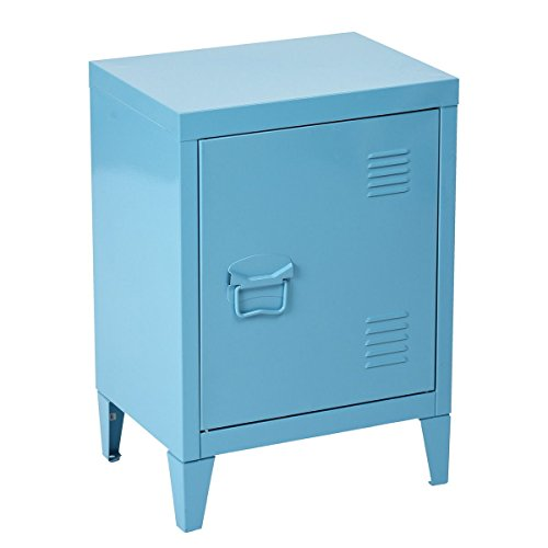 HouseinBox Low Standing Locker Organizer Side End Table Office File Storage Metal Cabinet Cupboa ...