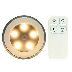 REDGO Wireless Remote Control Light 5 LED Bedside Lamp, Stick On Tap Light Touch Light, Decorati ...