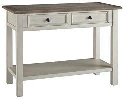 Signature Design by Ashley T637-4 Bolanburg Sofa/Console Table, Two-Tone