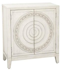 Pulaski DS-D193-003 Ornate Door Chest Carved Storage Cabinet Cream