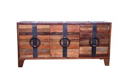 Designe Gallerie 1711-3-660 Vallis Handcrafted Cabinet, 3 Door Sideboard, Storage Organizer for  ...