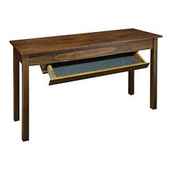 Casual Home 615-65 Kennedy Console Table with Concealed Drawer, Concealment Furniture, Warm Brown