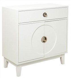 Pulaski DS-D193-006 Mid-Century Modern White Accent Chest Cabinet