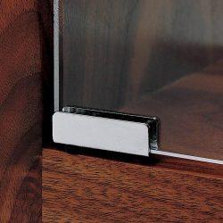 Glass Door Pivot Hinge – Satin Black (Pair)