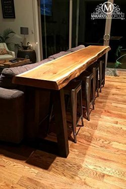 Wood Slab, Behind the Sofa Table, Natural Edge Buffet Table, Bar Top, Counter Top, Long Shelf, r ...