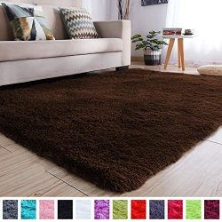 PAGISOFE Soft Comfy Rugs for Living Room Bedroom Area Indoor Modern Fluffy Rugs Decor Plush Vele ...