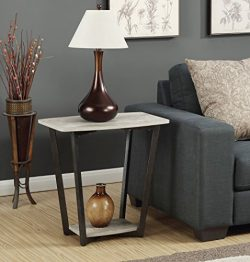 Convenience Concepts Graystone End Table, Faux Birch