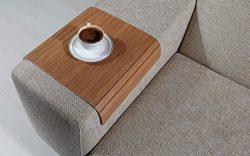 Sofa Tray Table (Bahama Teak), Sofa Arm Tray, Armrest Tray, Sofa Arm Table, Couch Tray, Coffee T ...