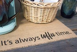 Coffee Maker Mat – Burlap Placemat for your Keurig