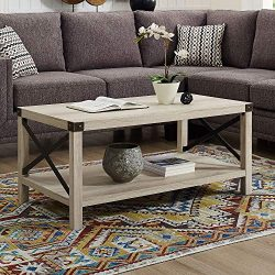 WE Furniture AZF40MXCTWO Coffee Table, White Oak