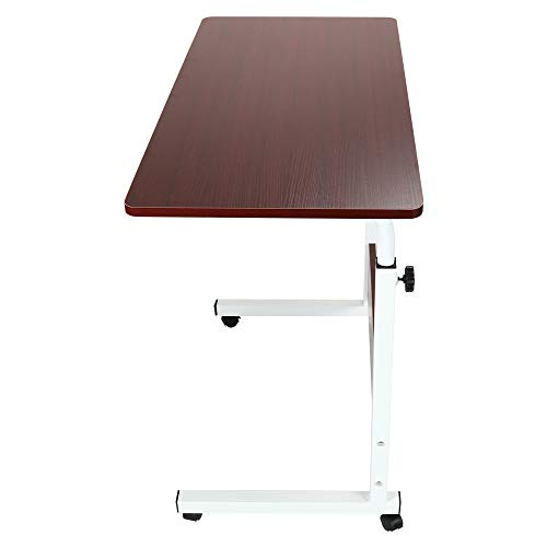 Dener❤Height-Adjustable Home Tray Table, Adjustable Sofa Side Bed Table Portable Desk with Wheel ...
