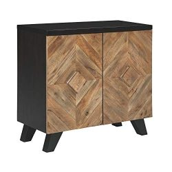 Ashley Furniture Signature Design – Robin Ridge 2-Door Accent Cabinet – Contemporary ...