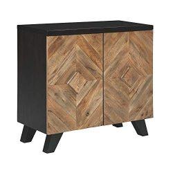 Ashley Furniture Signature Design – Robin Ridge 2-Door Accent Cabinet – Contemporary ...
