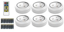 Brilliant Evolution Wireless LED Puck Light 6 Pack With Remote Control | LED Under Cabinet Light ...