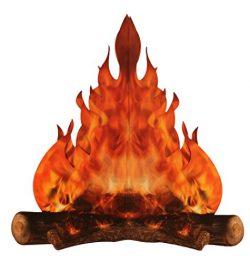 3-D large decorative cardboard campfire centerpiece 14″ tall