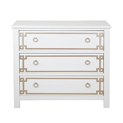 Beaumont Lane 3 Drawer Accent Chest in White