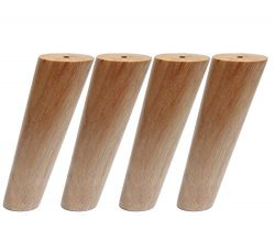 Round Solid Wood Furniture Legs Sofa Replacement Legs Perfect for Mid-Century Modern/Great IKEA  ...