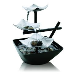 Silver Springs Relaxation Fountain | Illuminated Waterfall, Natural Stones, Soothing Sounds, Tab ...