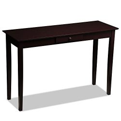 Yaheetech Wood Console Table Sofa Table with Drawer Entryway Furniture