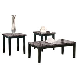 Ashley Furniture Signature Design – Maysville Faux Marble Top Occasional Table Set – ...