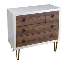 Treasure Trove Accents 17455 Three Drawer Chest, Tobacco