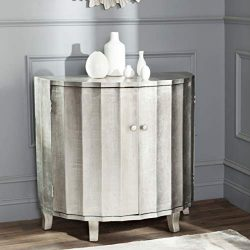 Safavieh American Homes Collection Rutherford Demilune Silver Leaf Cabinet