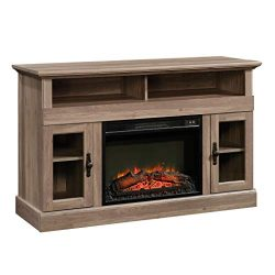 Sauder 422999 Barrister Lane Media Fireplace Entertainment Center, Accommodates up to a 60″ ...