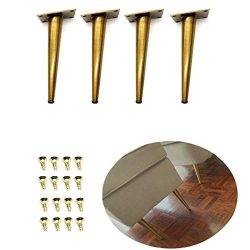 "4Pcs 7.8"" Gold Furniture Legs Cabinet Cupboard Metal Table feet – Verified Lab Test  ..."