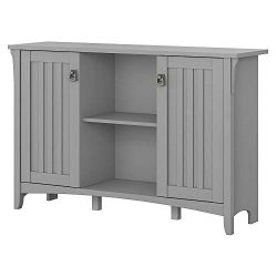 Bush Furniture SAS147CG-03 Accent Storage Cabinet with Doors, Cape Cod Gray