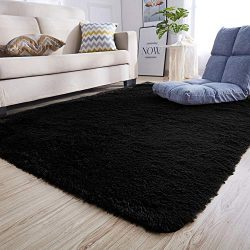 Junovo Ultra Soft Contemporary Fluffy Indoor Area Rugs, Home Decor Rug Mats Living Room Bedroom  ...
