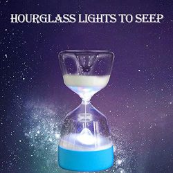 Nesee Hourglass Sand Timer Clock 7 Color Changing & Warm Light Romantic Mantel Office Desk C ...