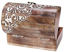 Indian Artisan, Handmade & Handcrafted Wooden Jewelry Box, Jewelry Storage Organizer, Wooden ...