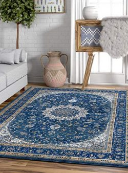 Well Woven Djemila Medallion Blue Vintage Persian Floral Oriental Area Rug 8 x 11 (7'10 ...