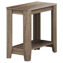 Monarch Specialties I I 3115 Accent End Side Lamp Table with Shelf, 24″ x 12″ x 22&# ...