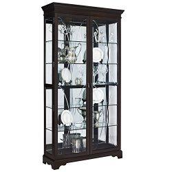 Pulaski P021579 Collection Sable Two Door Curio Display Cabinet, 44″ x 15″ x 81.5&#8 ...