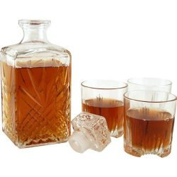 Bormioli Rocco Selecta Collection Whiskey Gift Set – Sophisticated Etched 33.75oz Decanter & ...
