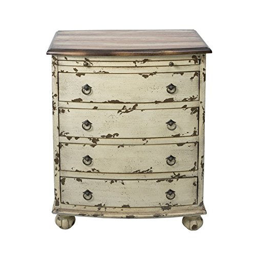 Beaumont Lane 4 Drawer Chest in Distressed White