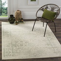 Safavieh Adirondack Collection ADR109V Ivory and Sage Oriental Vintage Distressed Area Rug (8 ...