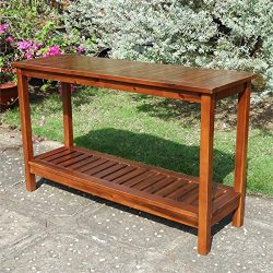 International Caravan Highland 2-Tier Wood Console Table